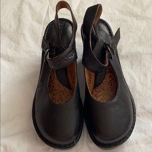Born Leather Embossed Mary Jane Heels 11